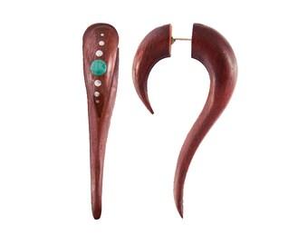 Maui Tribal fake expander, Tribal jewellery, Fake gauge jewellery, Fake expander, Ethnic jewellery, Organic jewellery, Fake ear stretcher