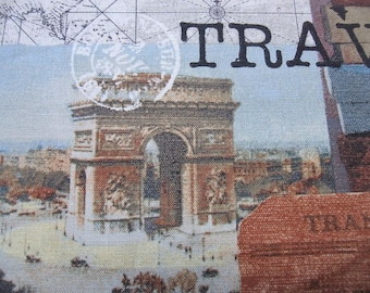 Destination Paris Collage France Eiffel Travel Map Windham Fabric Yard