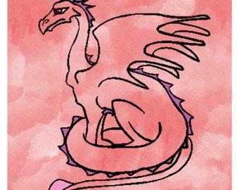 Dragon Background Set 3DD-T-Shirt-Digital Clipart-Website-Gift Tag-Gift Cards-Clipart-Background-Banner-Notebook-Scrapbook