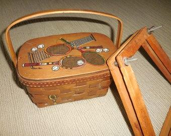 GREAT Vintage Caro Nan Basket Tennis Purse
