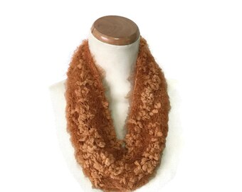 Cinnamon Cowl, Hand Knit Cowl, Mini Cowl, Knit Cowl, Women's Cowl, Loop Scarf, Girls Cowl, Gift For Her, Knit Scarf, Loop Scarf,
