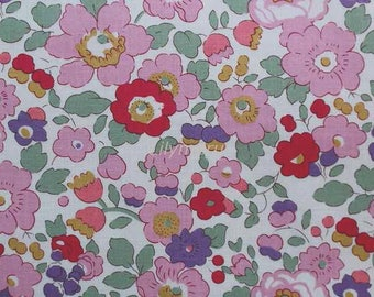 Liberty tana lawn printed in Japan - Betsy - Pink purple - Reprinted edition