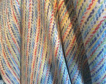 PRIMARY Colored Red Blue Yellow WOVEN Broken STRIPES Upholstery Fabric, 28-24-24-0116