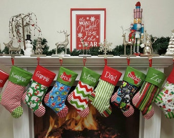 CHRISTMAS STOCKINGS 19 styles to Choose from....  Embroidered.... Personalized...Monogrammed Get a head start for 2017