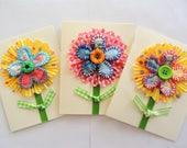 Reserved order for C, 3 blank flower cards