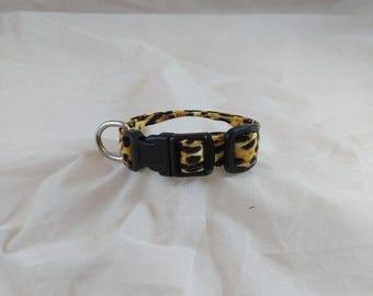 Cheetah Print Dog Collar, Cheetah Print Cat Collar, Pet Collars, Dog Collars, Cat Collars, Small Dog Collars