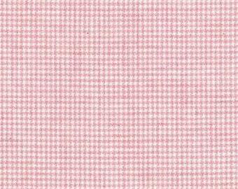 Lecian Melange Cotton Yarn Dyed Fabric - Pink Check