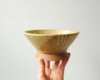 Vintage Handmade Pottery Bowl, Studio Pottery