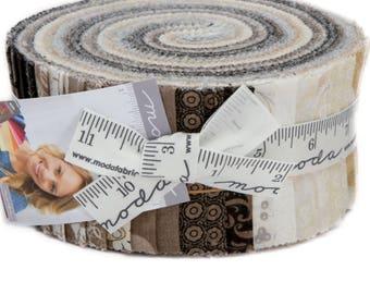 "Maven Jelly Roll by Basic Grey for Moda Fabrics 30460JR 40 2.5"" x 42"" Fabric Strips"