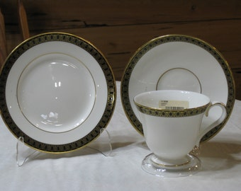 "Discontinued NEW UNUSED Waterford ""Ashworth"" Cup, Saucer, Bread & Butter Plate  MINT"