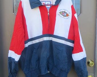 Vintage san Diego  NFL  Logo Athletic Jacket  -Sz MED  large embroidery at back