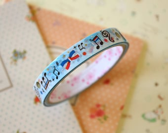 Music Notes colorful cartoon deco tape