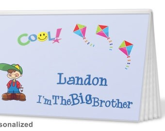 Brag Book-Big Brother in Blue-I'm The Brother Brag Book - I'm The Big Brother Brag Book - Photo Album -  Big Sister Gift, Big Brother Gift