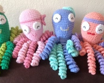 Crochet Octopus for Preemie Babies, Crochet Octopus Preemie Baby Comfort Toy, Therapeutic Octopus, Newborn Octopus, Easter gifts for babies