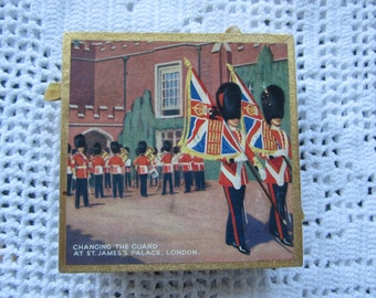 Vintage Decorative Matchbook Case Featuring Changing Of The Guards London