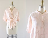 embroidered blush tunic