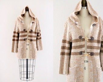 1970's hooded toggle sweater jacket
