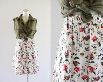 high waist botanical shorts / m