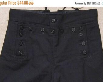 SALE Vintage men's blue wool navy uniform pants/ Vint navy uniform pants
