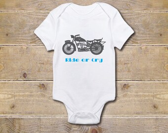 Motorcycle Onesie, Boy's Onesie, Motorcycles, Baby Shower Gift, Baby Boy, Baby Girl, Motorcycle Baby Outfit, Ride or Cry
