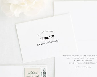 Urban Vintage Thank You Cards