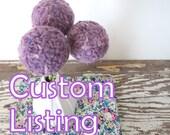 Custom Listing for Alice - Pom pom flower bouquet  - Wool felt flowers - Craspedia