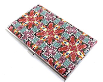 Unique Colorful Polymer Clay Business Card  Case