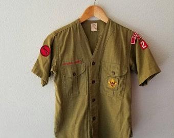 Vintage Boy Scout Uniform Top (s)