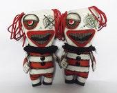 Horror Clown Creepy Circus Doll Art Doll Voodoo Dolls Gothic Horror