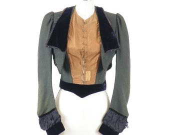 1890s Victorian Bodice, Antique Bodice Jacket, Steampunk Clothing