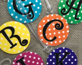 Luggage Tag Personalized Luggage Tag Custom Luggage Tag Beach Bag Tag Diaper Bag Tag Tote Bag Tag Party Favors Gift For Kids Polka Dot Tag