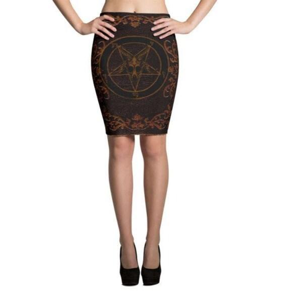Baphomet Grimoire Pencil Skirts