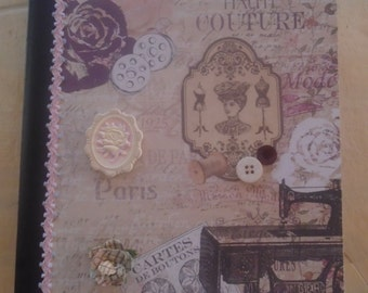 Fashion Sewing Couture Journal Altered Composition Book