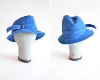 Vintage 1960s FUR felt hat