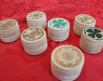 Small Pill Box - Engraved wood pill box - Small Trinket Box - Ring Box - Butterfly - Clover - Floral Design
