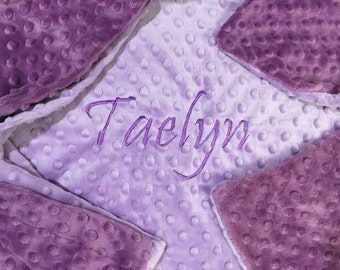 Personalized custom embroidered  minky pillow cases
