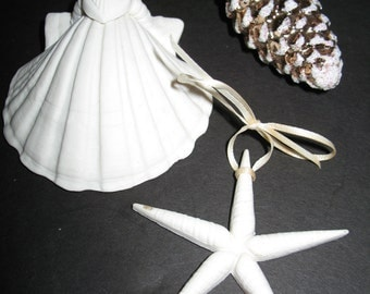 Two Vintage Margaret Furlong Ornaments and Porcelain Partner