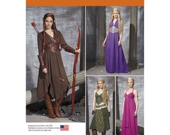 Pick Your Size - Simplicity Costume Pattern 1010 - Misses' Fantasy Theme Costumes - Daenerys Targaryen/Game of Thrones Style