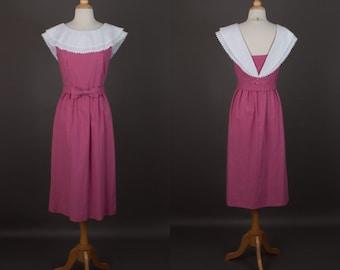 Vintage 1970s Lanz mauve pink dress