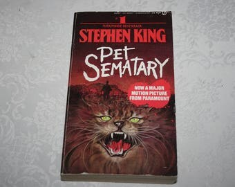 """Vintage Paperback Book """" Pet Sematary """" 1983 By Stephen King"""