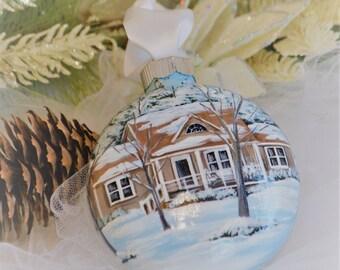 Hand Painted Custom Home Ornament