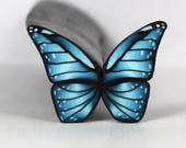 Raw Aqua Polymer Clay Butterfly Cane