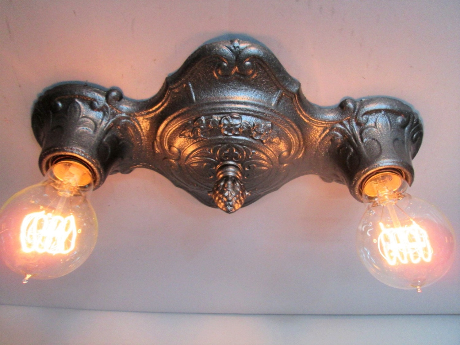 Westmenlights Vintage Small Ceiling Light Flush Mount: Vintage Art Deco Flush Mount Ceiling Light 1920's Ornate