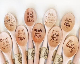 Funny Designer Wooden Spoons - many designs to choose from