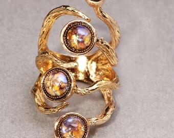 Gold Branch Ring Opal Ring Branch Ring
