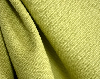 Montego Pear Green Hemp Upholstery Fabric
