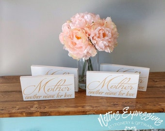Mother Another Name for Love, Wood Sign, Rustic Wood Sign, Mother Sign, Mother Gift, Mother's Day Gift, Gift for Mom, Love your Mom Sign