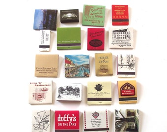 Lot of 20 Vintage Restaurant Matchbooks (MB1)