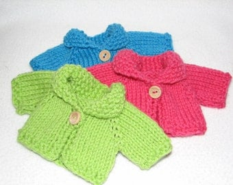 Doll Sweater  for 8 - 9 inch Doll - handknit - ready to go