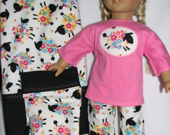 "Doll & Girl Pillowcases with matching 18"" Doll  Pajamas"
